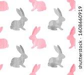 Cute Watercolor Bunny Pattern....