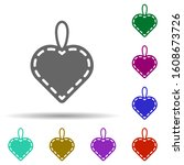 heart flat in multi color style ...