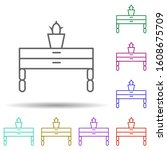 drawer multi color style icon....