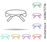table multi color style icon....