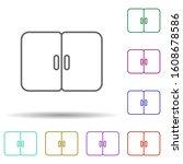 window multi color icon. simple ...