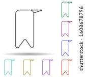 bookmark multi color icon....