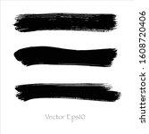 brush stroke watercolor.vector...   Shutterstock .eps vector #1608720406