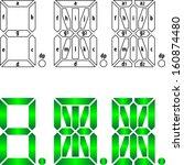 segmental labeling for 7   14   ... | Shutterstock .eps vector #160874480