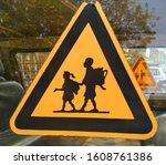 School children sign and symbol ...