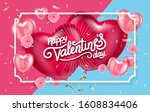 balloon hearts. vector holiday... | Shutterstock .eps vector #1608834406