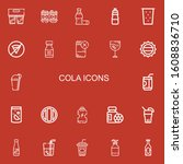 editable 22 cola icons for web...   Shutterstock .eps vector #1608836710