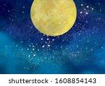 beautiful watercolor wind full... | Shutterstock .eps vector #1608854143