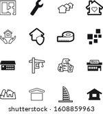 construction vector icon set... | Shutterstock .eps vector #1608859963
