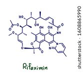 rifaximin is an antibiotic used ... | Shutterstock . vector #1608865990