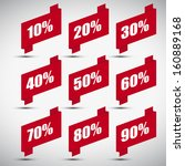 red paper discount tags set | Shutterstock .eps vector #160889168