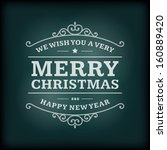 christmas postcard ornament... | Shutterstock .eps vector #160889420
