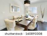 dining room in a luxury house. | Shutterstock . vector #160893308