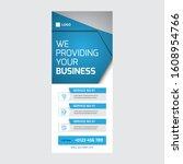 roll up banner vertical... | Shutterstock .eps vector #1608954766