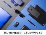 set of men accessories ... | Shutterstock . vector #1608999853