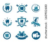 Dental Labels And Icons Set....