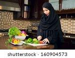 Arabian Woman Wearing Hijab...