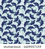 textile fashion african print... | Shutterstock .eps vector #1609057159