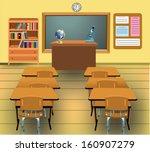 empty classroom | Shutterstock .eps vector #160907279