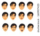 face expressions | Shutterstock .eps vector #160907420