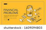 financial problems isometric... | Shutterstock .eps vector #1609094803