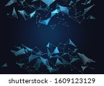 abstract polygonal background... | Shutterstock . vector #1609123129