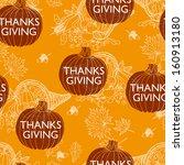 seamless thanksgiving  pattern. ... | Shutterstock . vector #160913180