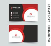 creative red business card...   Shutterstock .eps vector #1609134619