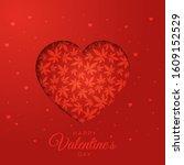 heart with marijuana leaves... | Shutterstock .eps vector #1609152529