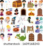 set of isolated objects theme... | Shutterstock .eps vector #1609168243
