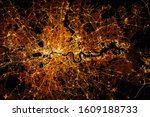London City Lights Map At Nigh...