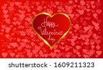 vector valentine background ... | Shutterstock .eps vector #1609211323