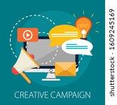 advertising and marketing... | Shutterstock .eps vector #1609245169