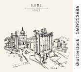 rome  italy  europe. the roman...   Shutterstock . vector #1609253686