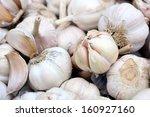 white garlic background texture | Shutterstock . vector #160927160