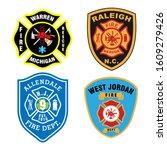 fire fighter logo. badge of...   Shutterstock .eps vector #1609279426