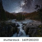 Sunwapta Falls With Milky Way...