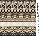 paisley arabesque abstract...   Shutterstock .eps vector #1609297270