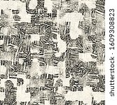 ink drawn stained textured... | Shutterstock . vector #1609308823