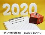 2020 insurance form residence... | Shutterstock . vector #1609316440