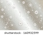 Silk Gray Background With Whit...