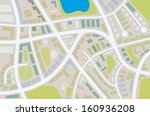 abstract illustration of a city ... | Shutterstock . vector #160936208
