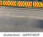 Asphalt Road Surface With Arrow ...