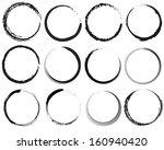 grunge circles | Shutterstock . vector #160940420