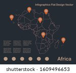 infographics africa map outline ... | Shutterstock .eps vector #1609496653