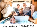 Digital Nomad Couple With Cute...