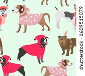 childish seamless pattern with...   Shutterstock .eps vector #1609515079