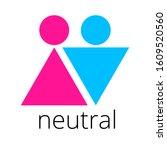 unisex gender neutral icon....   Shutterstock .eps vector #1609520560