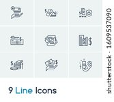 business icon set and credit...