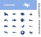 fauna icon set and arctic char... | Shutterstock . vector #1609537420